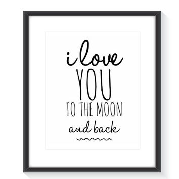 I love You Wall Decor Instant Download
