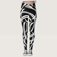 Black Tribal Leggings