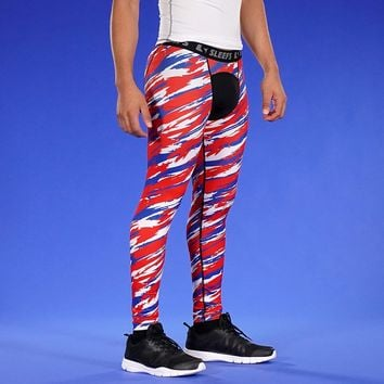 Tryton Red Blue White Tights for men