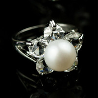 Shiny Jewelry Gift New Arrival Pearls Stylish Crystal Accessory Ring [4914861636]