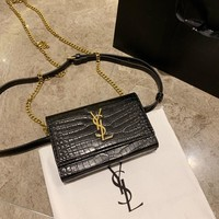 YSL Women Leather Shoulder Bag Shopping Satchel Tote Bag Handbag
