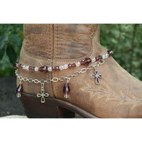Boot Candy Boot Candy Amethyst Crystals and Crosses
