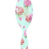 Floral Young and Free Paddle Brush