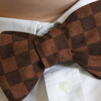 Mens Bow Tie Brown by CanDoStitching on Etsy