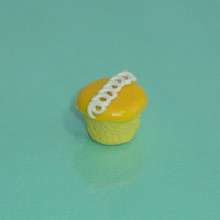 Hostess Orange Cupcake Polymer Clay Charm