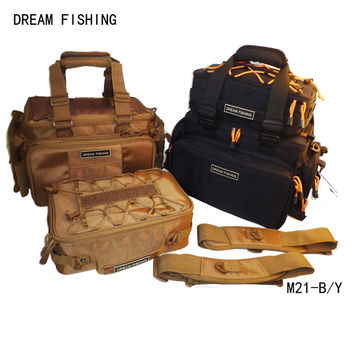 Multifunctional outdoor Hiking or fishing bags lure waist pack lure live fish buckle combination 2 set 1 fishing pole bag