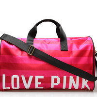 Women's Brand Fringe Handbags VS Love Pink Large Capacity Travel Duffle Striped Waterproof Beach Bag Shoulder Bag Bag