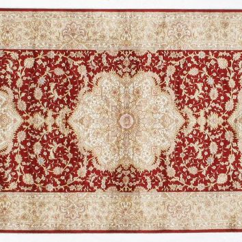 Silk Red Hand-Knotted 3x10 Runner 400 KPSI Area Rug