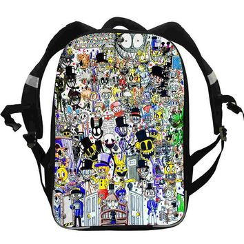 Anime Backpack School FNAF s Animal Tiger Puppy Cat Freddy Chica Foxy Boys Girls Teenager School Bags Mochila Bolsa Lunch Pencil Box AT_60_4