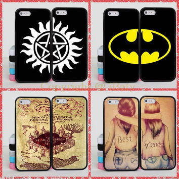 Batman Harry Potter Brain BFF Best Friends Case For Apple iPhone 6S Plus Supernatural Mandala Case For iPhone 6+ 5.5 inch