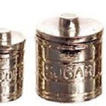 1:12 Scale Engraved Canisters w/Lids, Set of 4 #FCN0720