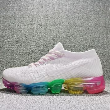 Fashion Online Best Deal Online 2018 Nike Air Max Vapormax Flyknit Men Women Running Shoes Rainbow