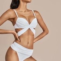Sauvage Mon Cheri Underwire Twist Wrap Resort Bikini Set