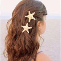 Fashion lovely  natural  starfish hairpin