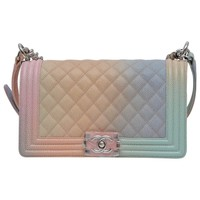 Chanel Rainbow Old Medium Crossbody Pink Caviar Boy Bag, 2018
