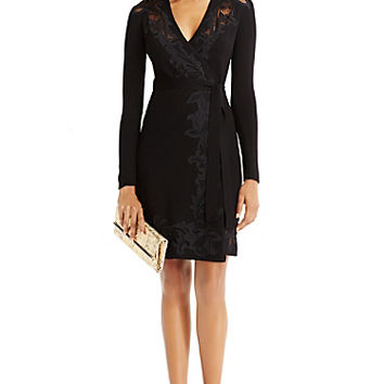 DVF Leandra Lace Sweater Wrap Dress