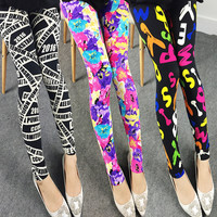 Colorful Elastic Plus Size 9/10 Milk Silk Pants