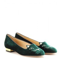 charlotte olympia - kitty flat slippers