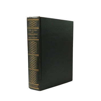 1920s The Story of Philosophy Book by Will Durant, Roaring Twenties Philosophical Views, Vintage Home Library