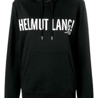 Black and White Logo Contrast Hoodie by Helmut Lang