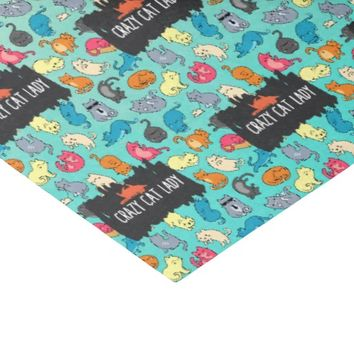 Crazy Cat Lady Cute and Playful Cat Pattern Tissue Paper