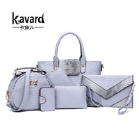 Kavard Spanish Serpentine Composite Bag Sac a Main luxury Women Bags Ladies Purses And Handbags 2017 famous brand Handbagt 6 pcs