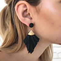 Cha Cha Paper Earrings in Black
