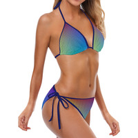 color gradient Custom Bikini Swimsuit (Model S01) | ID: D2694135