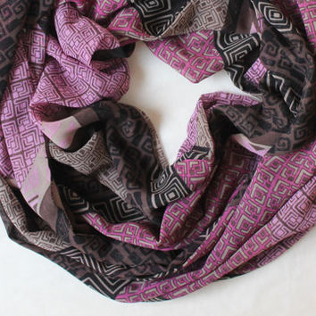 purple boho scarf,scarf,infinity scarf, scarf, scarves, long scarf, loop scarf, gift