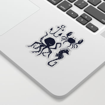 Under The Sea Navy Blue Sticker by Heather Dutton