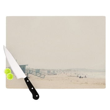 "Laura Evans ""Summer Haze"" Coastal Brown Cutting Board"