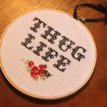 Thug Life Cross Stitch PATTERN