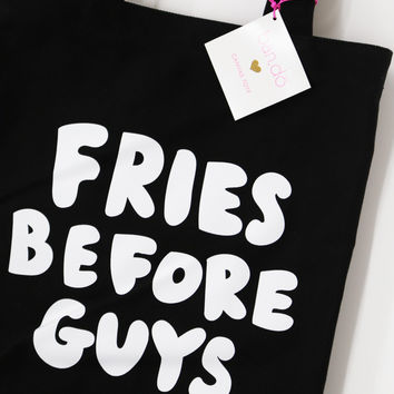 Canvas Tote - Fries Before Guys