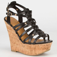 Delicious Medium Womens Wedges Black  In Sizes