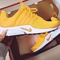 NIKE PRESTO Women Fashion Running Sport Casual Shoes Sneakers Yellow