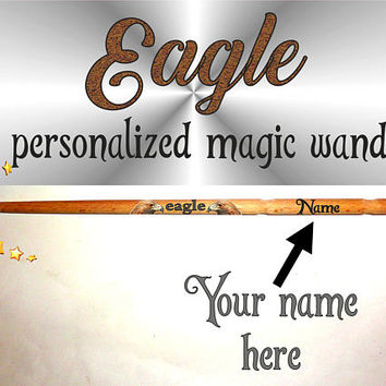 Eagle Fairy Magic Wand, Eagles Magic Wand. Personalized Merlin Magic Wand. Custom Name Magic Wand. Wizard Fairy Wands, Hermione Cinderella