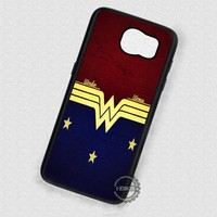 Stars in Blue and Red Wonder Woman Logo - Samsung Galaxy S7 S6 S5 Note 7 Cases & Covers