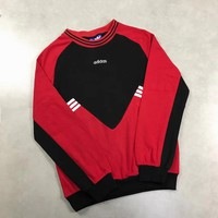 """""""Adidas"""" Unisex Personality Multicolor Stripe Embroidery Logo Long Sleeve Sweater Couple Casual Tops"""