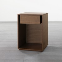 'Box' Large Side Table in Walnut - Side Tables - Tables