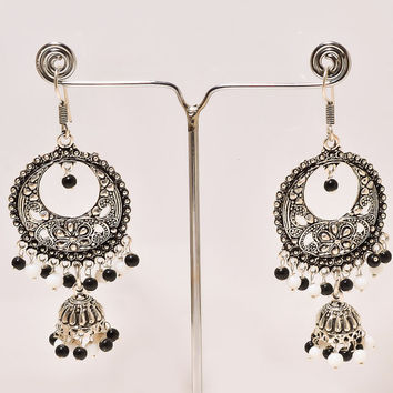 Indian Traditional Earring Handmade Earring Beads Earring Metal Earring Bali Style Oxidised Earrings