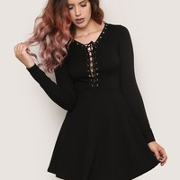 Lace Me Up Mini Dress - Dress Sale at Gypsy Warrior