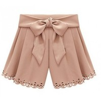 Women Summer Euro Style Ice Cream Casual Blends Butterfly Grey Short Pants M/L@II0156g $14.59 only in eFexcity.com.
