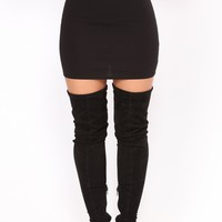 Trying To See You Mini Skirt - Black