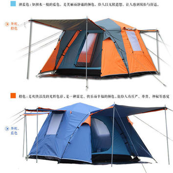 2 doors 3 - 4persons fully-automatic tent DURABLE Family Tent Low Price! FREE SHIPPING!