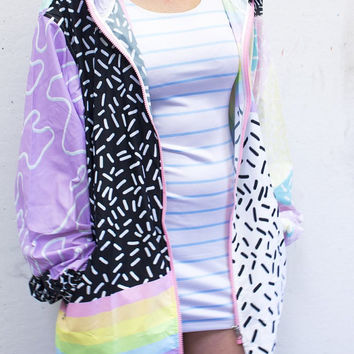 aesthetix windbreaker XS - 3XL | plus size kawaii pastel decora fairy kei harajuku cute 90s 80s tumblr rainbow kitsch pastel grunge jfashion