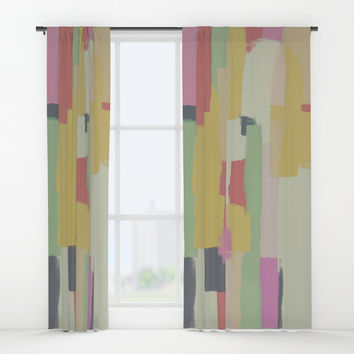 Abstract Painting No. 1 Window Curtains by Metron