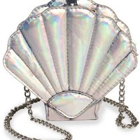 Round Flask Mermaid Seashell Purse