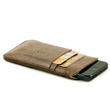 Slim Leather Wallet iPhone Case