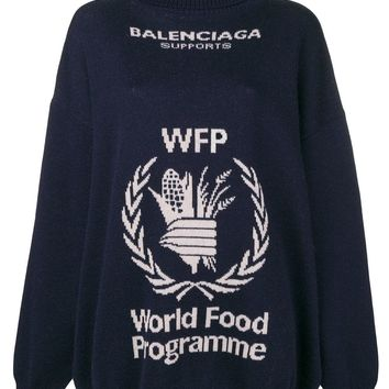 Navy World Food Programme Turtle Sweater by Balenciaga