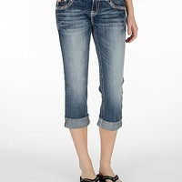 Miss Me Illusion Easy Stretch Cropped Jean